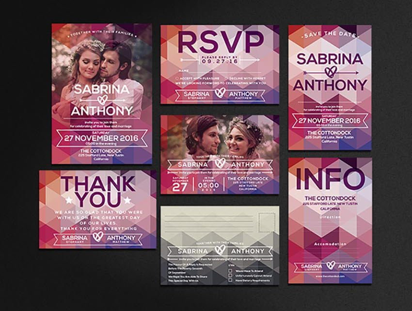 Modern Wedding Invitation Template wedding invitation with photo templates