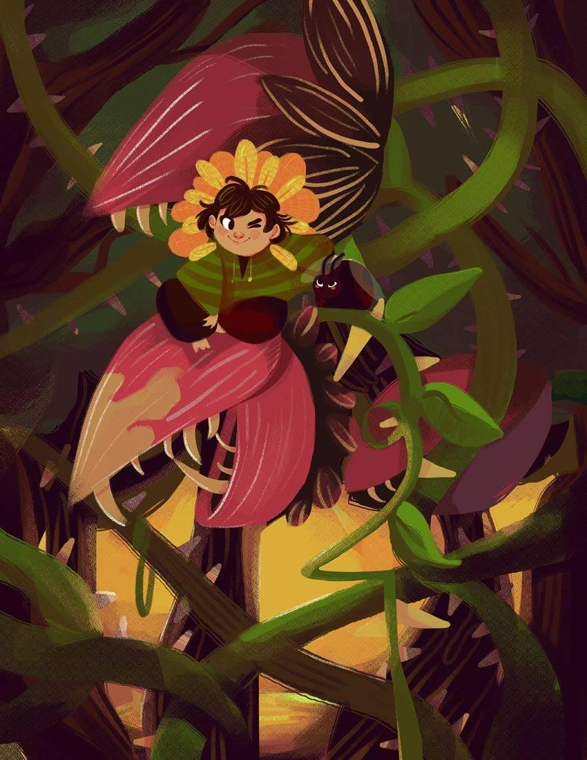 Pet Plant Art by Daniela Lobos