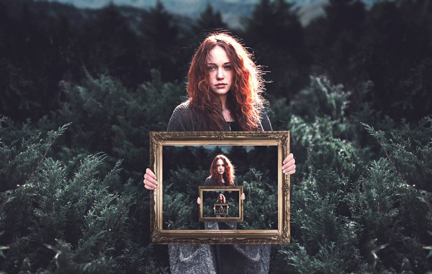 Picture Within a Picture Photography Illusion by Melody Nieves