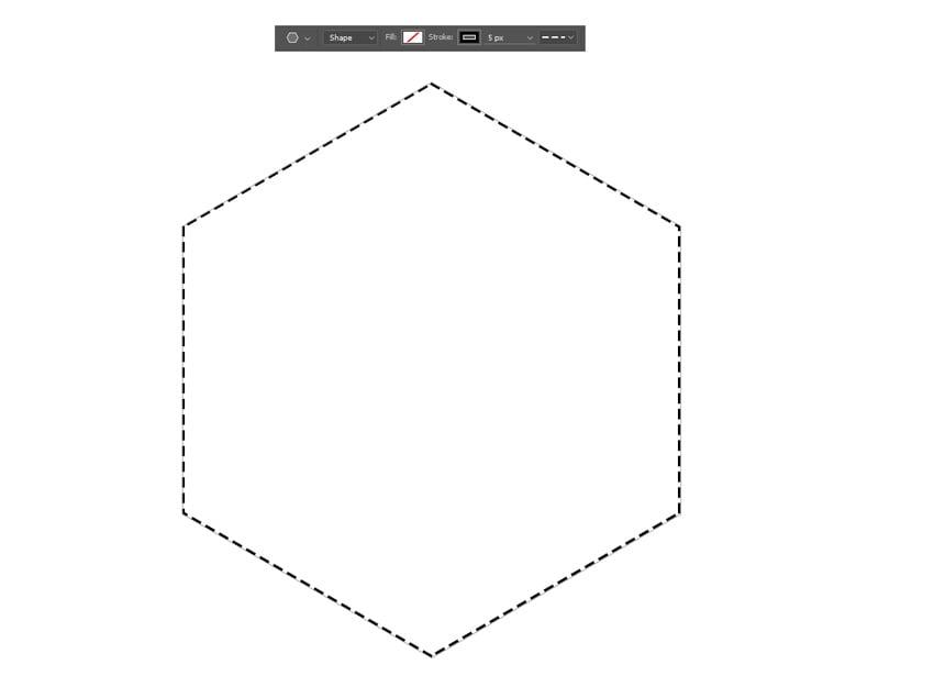 Create the Initial Hexagon Shape