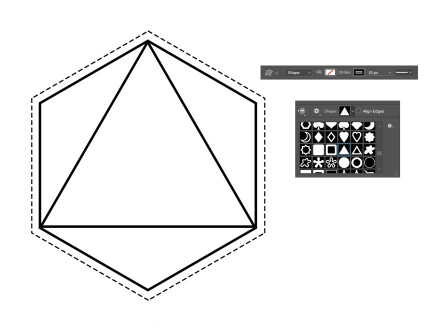 Add a Triangle to the Hexagon Design