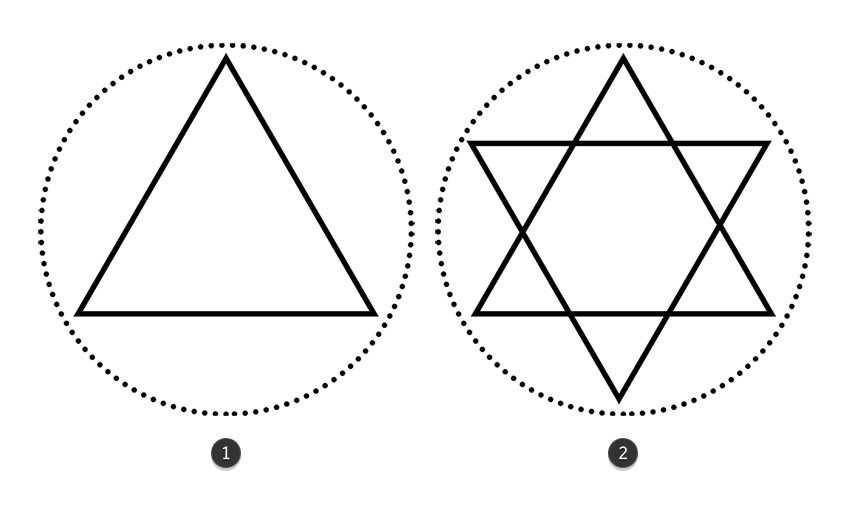 Add Two Triangles to the Circular Design