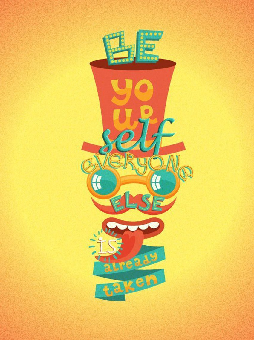 Retro Lettering Poster by Koko