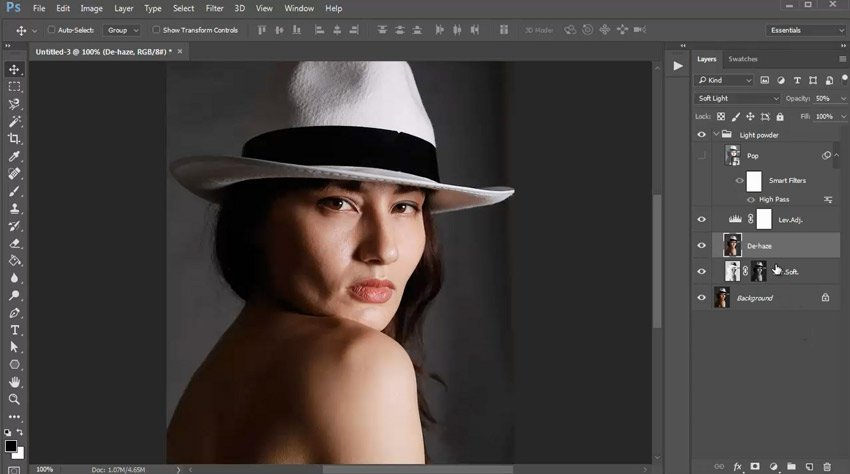 Customize the Retouched Effect