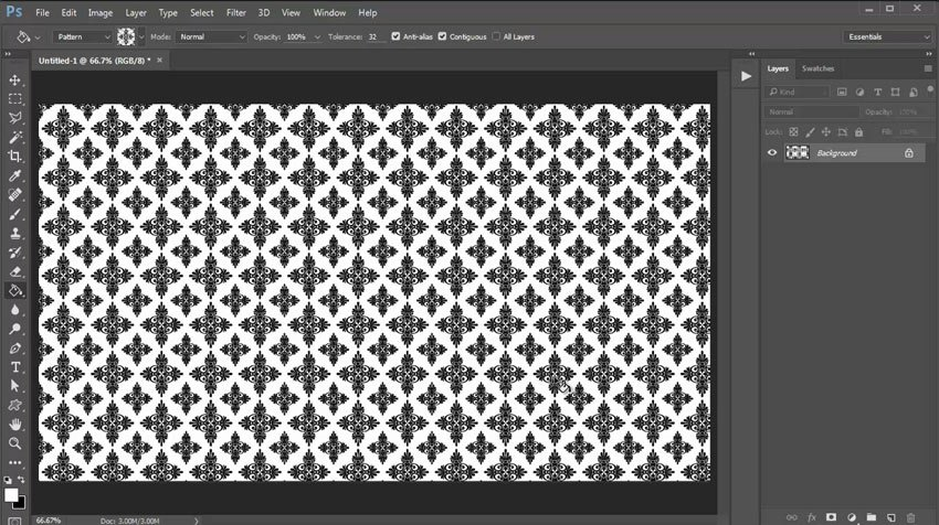 Apply the Pattern With the Paint Bucket Tool