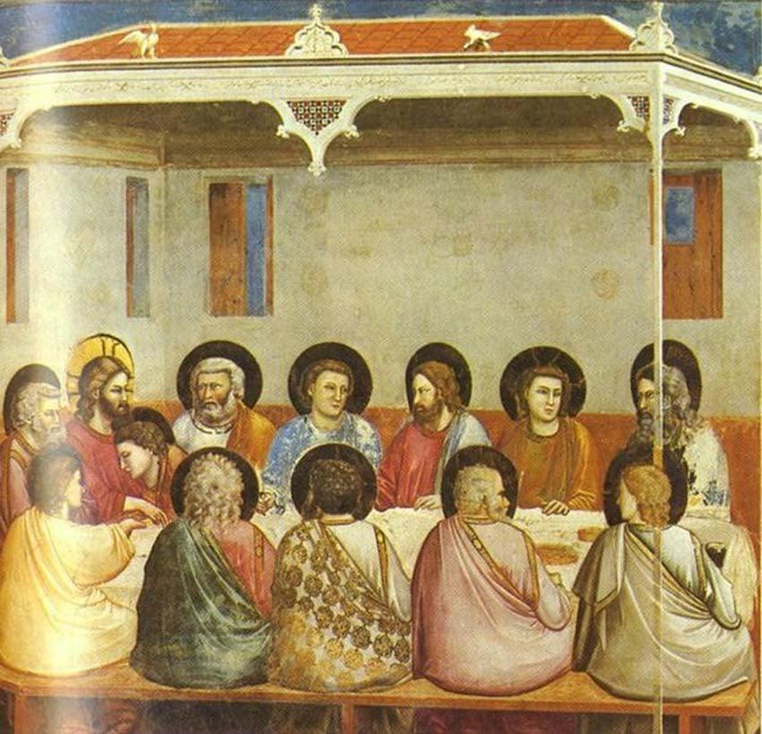 Last Supper by Giotto di Bondone
