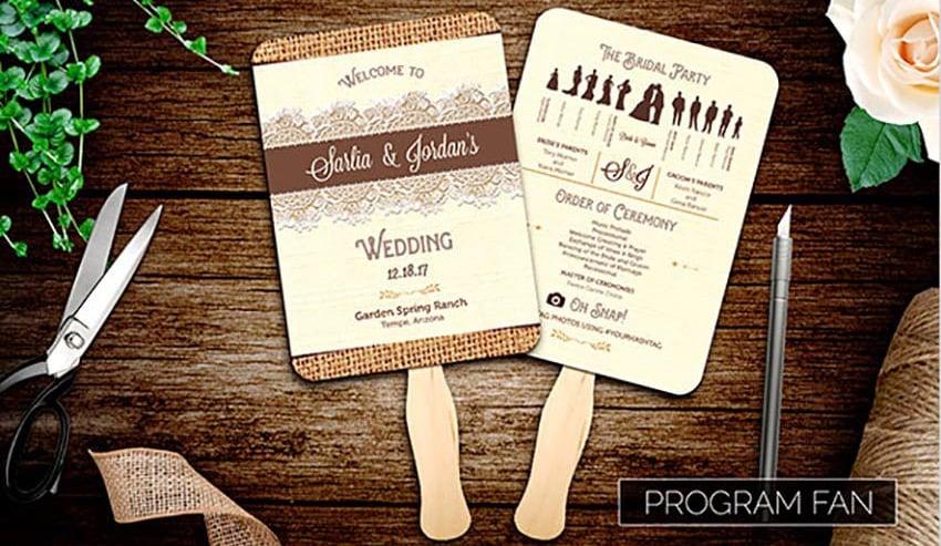 Burlap and Lace Wedding Invitation Suite Template