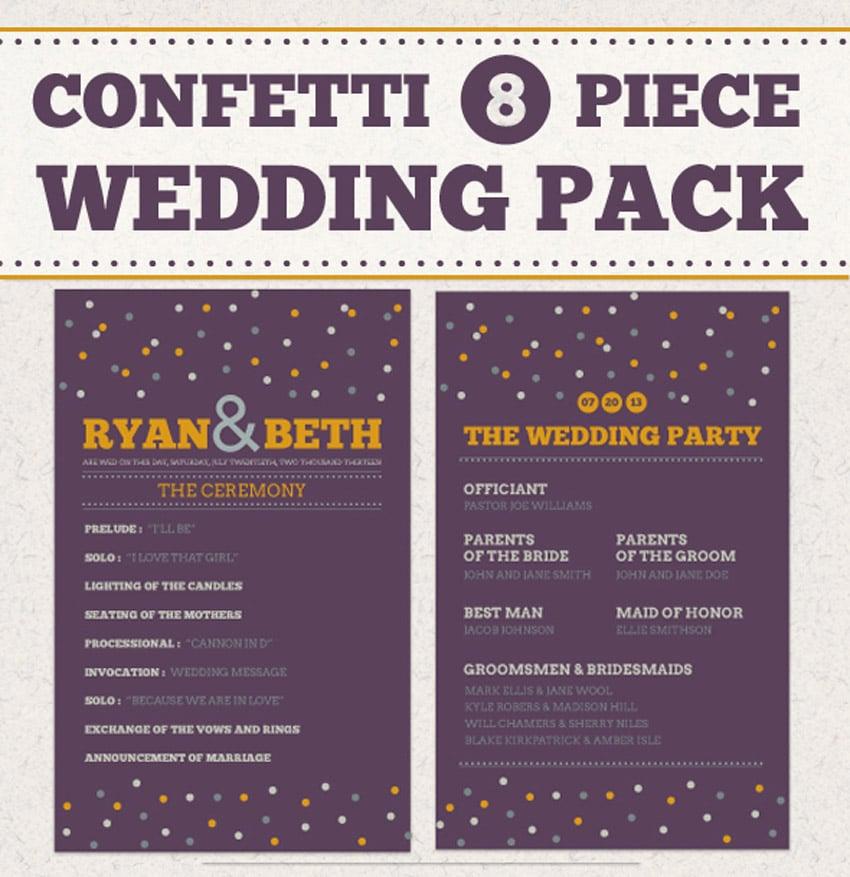 Confetti Wedding Pack