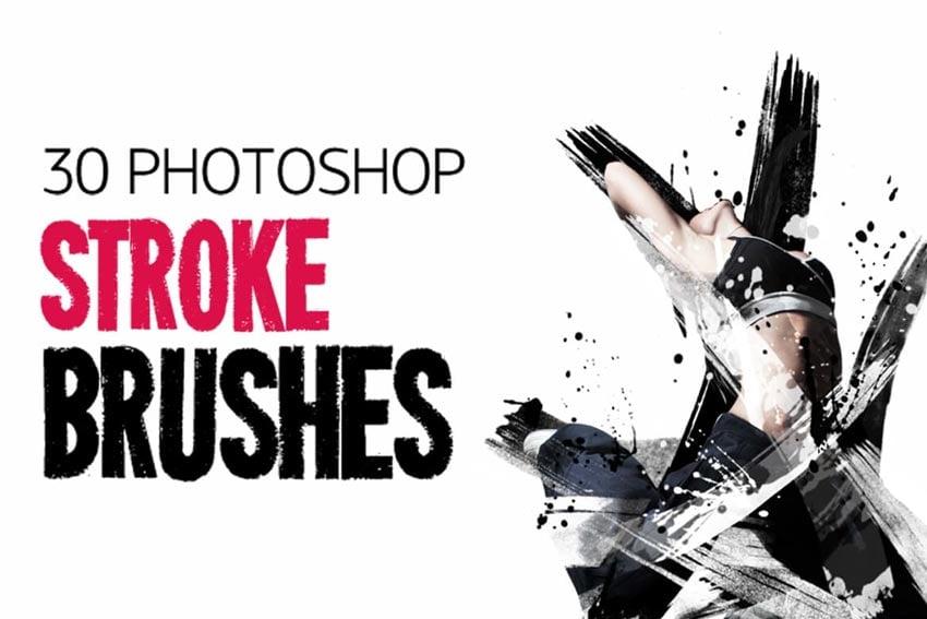 30 Stroke Photoshop Brushes