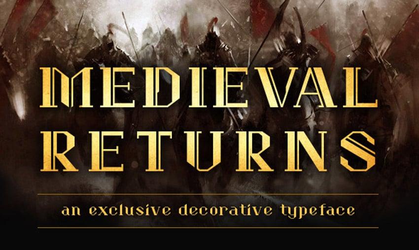 Medieval Returns Font