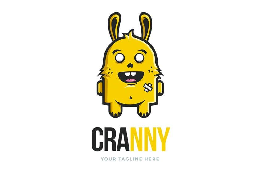 Crazy Bunny Logo Template
