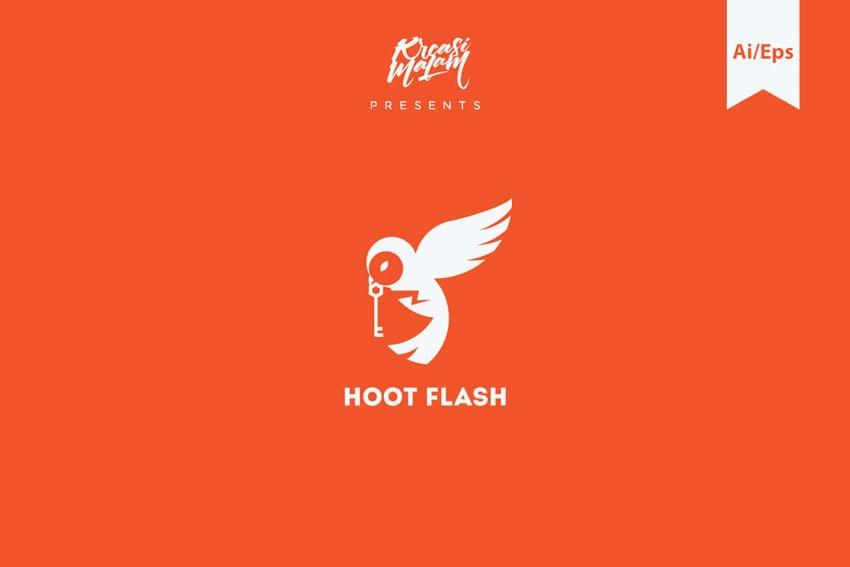 Hoot Flash Logo Template