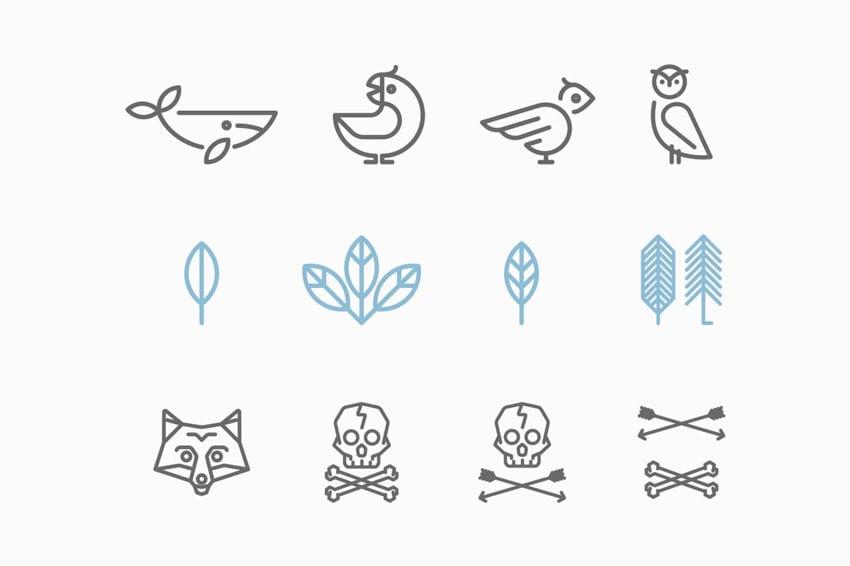 Hipster Animal Logos