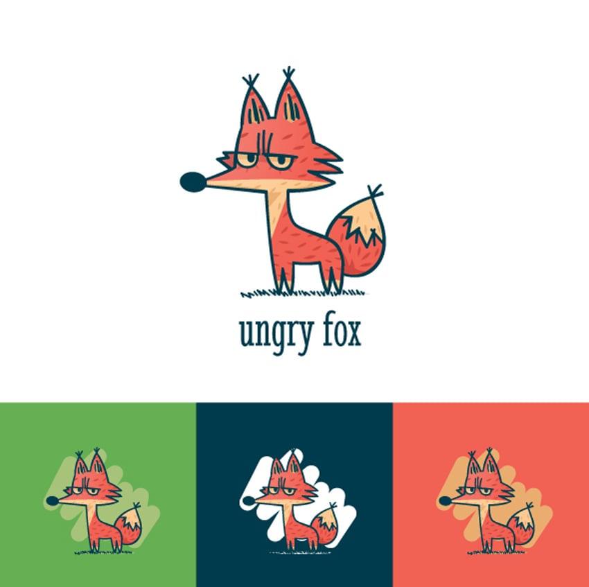 Ungry Fox Logo