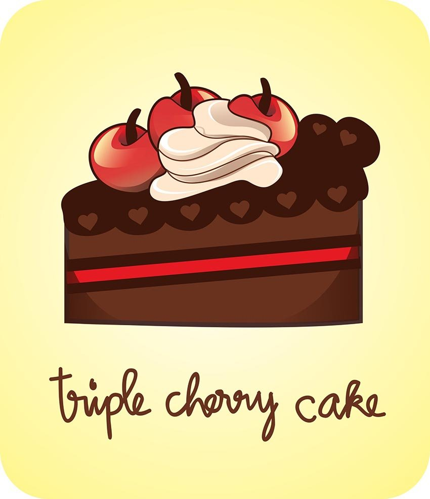 Vector Chocolate Cake Slice Adobe Illustrator Tutorial