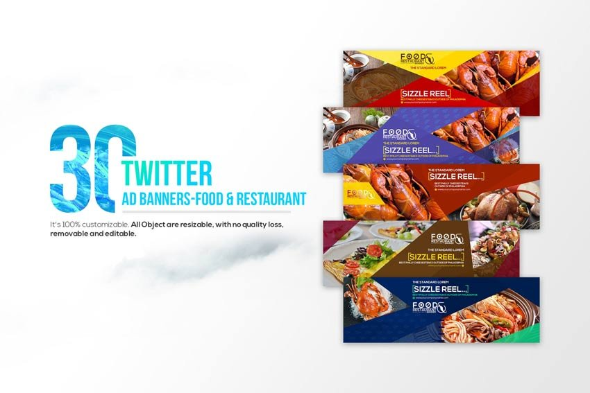 30 Twitter Covers - Food Restaurant
