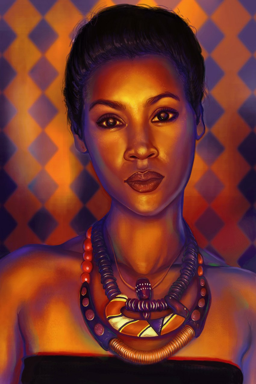 Bold Colorful Portrait Painting Tutorial by Melody Nieves