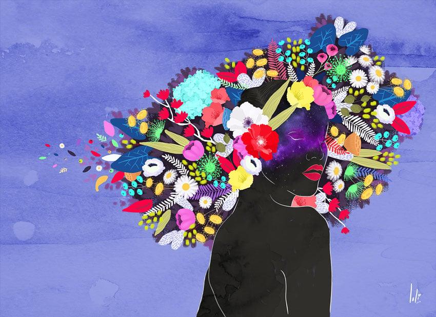 Bloom - Infinite Blackness by Mary Navarro