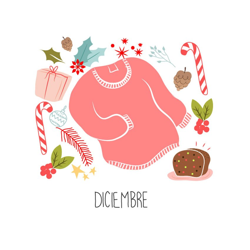 Diciembre - Calendario 2016 by Nat Rivera