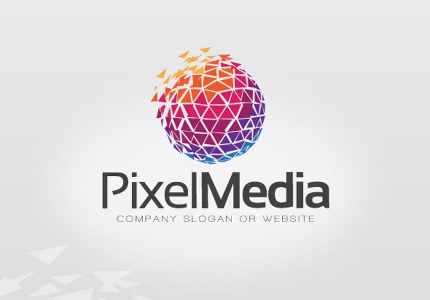 Pixel Media Logo Template