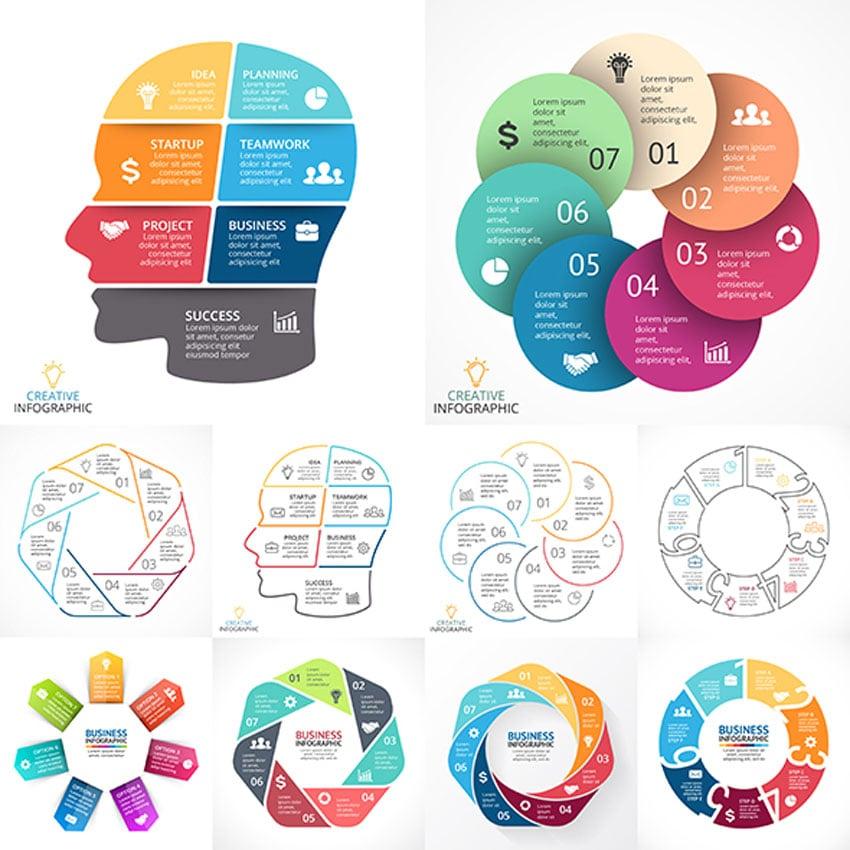 7 Steps Infographics