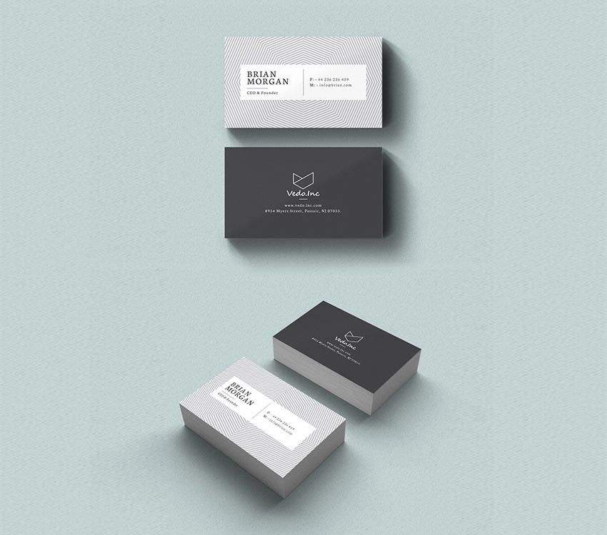 Monochrome InDesign Business Card Template