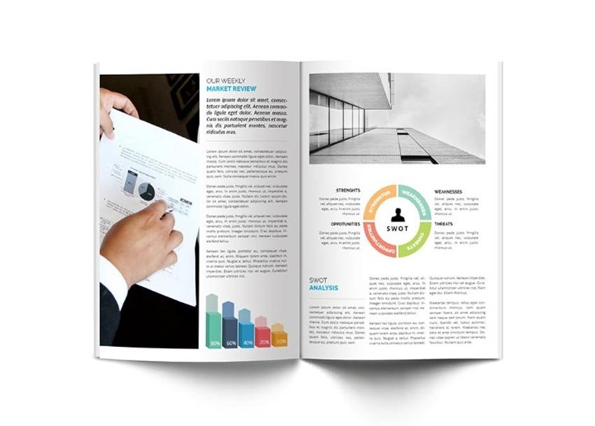 Corporate InDesign Newsletter Template