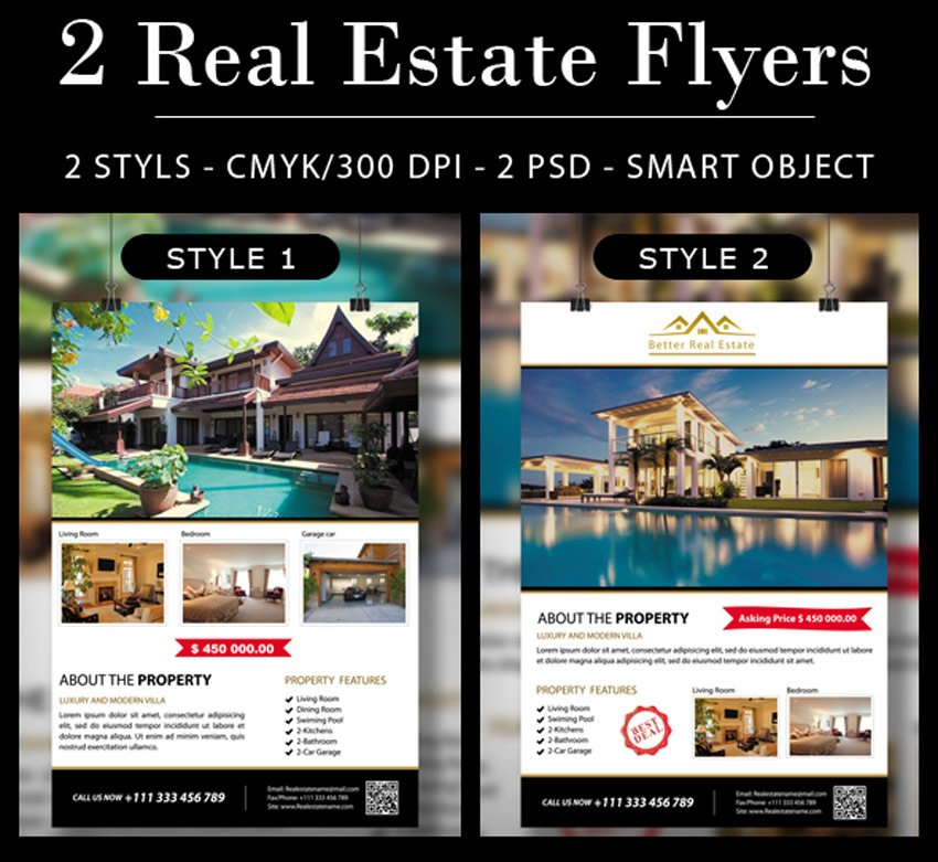 2 Real Estate Flyers