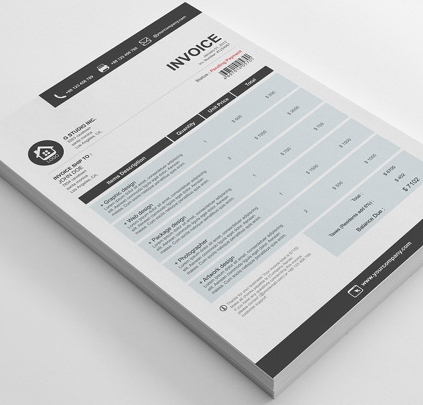 Gstudio Clean Invoices Template