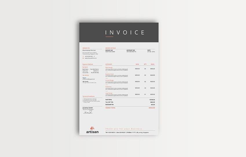 Multipurpose Invoice Template