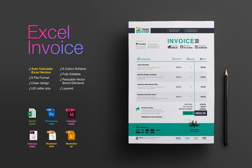 Excel Invoice Template