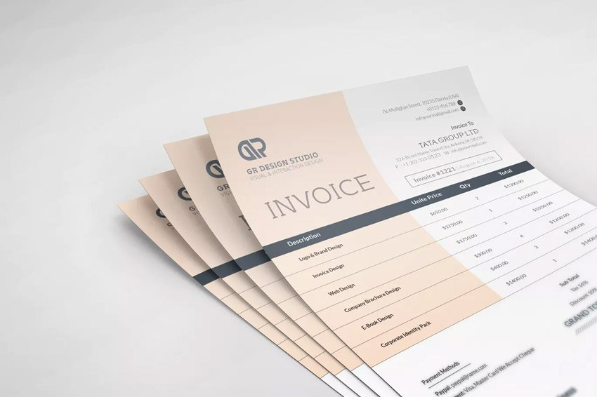 32 Invoice Templates For Corporations Small Businesses