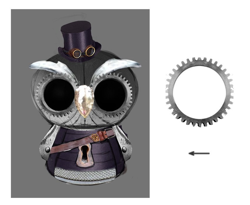Create the Owl Eyes