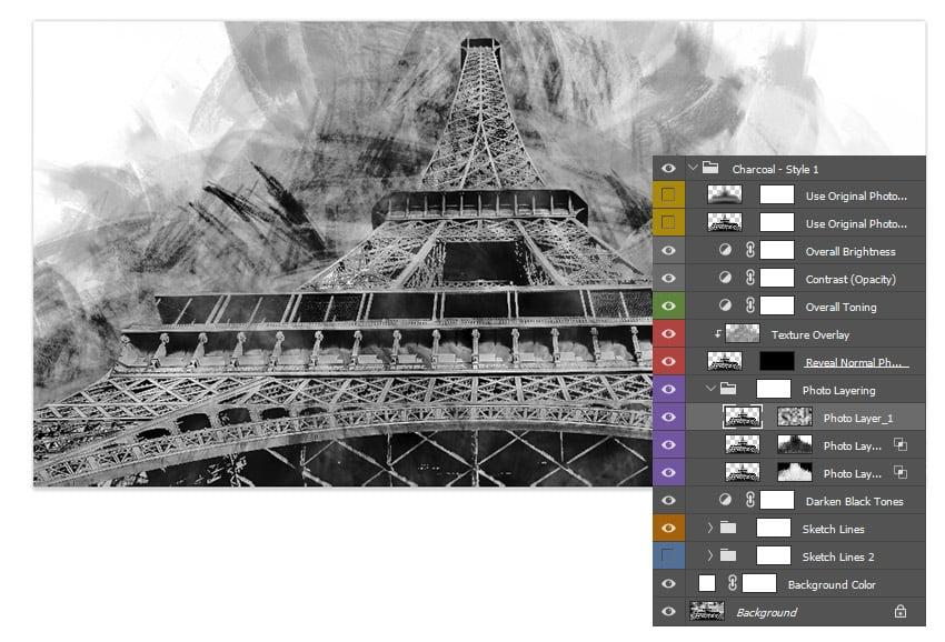Adjust the Photo Layers