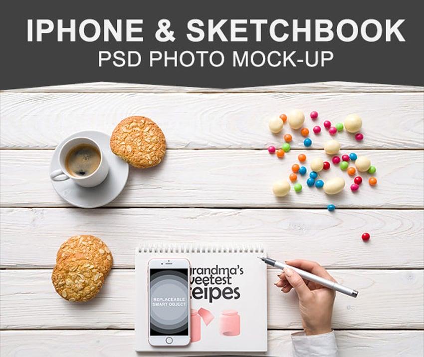 iPhone  Sketchbook Mockup