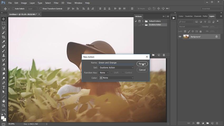 Create a Duotone Photoshop Action
