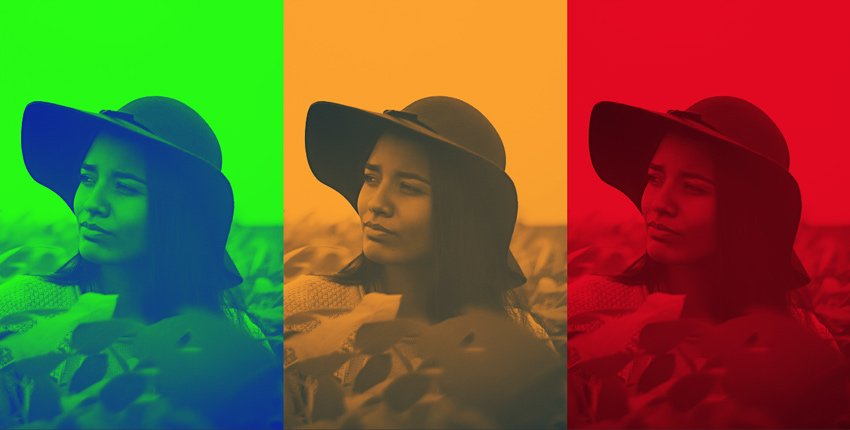 Duotone Photo Effect Multiple Colors