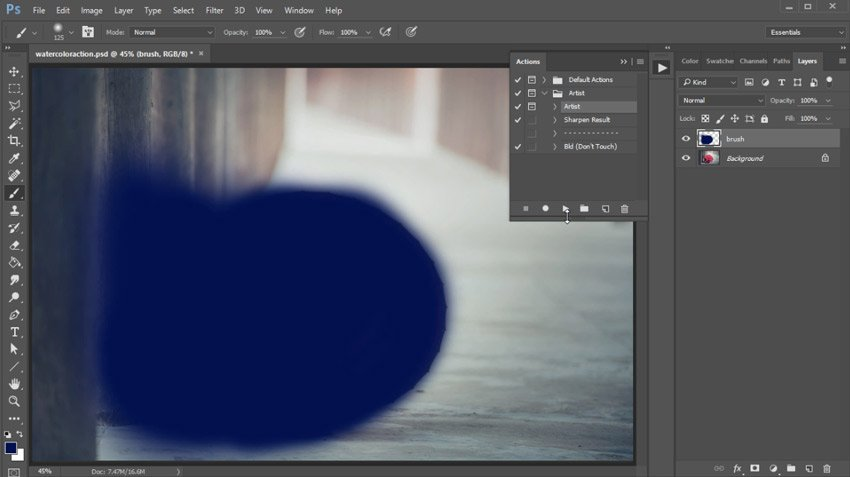 Fill the Brush Layer with Color