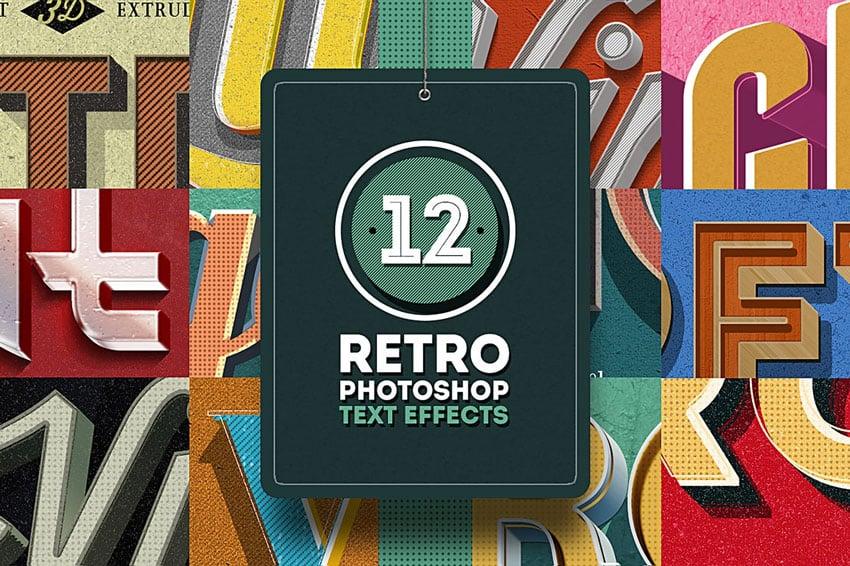 12 Retro Photoshop Text Effects