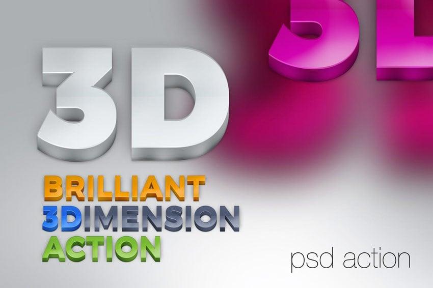Brilliant 3D Text Action