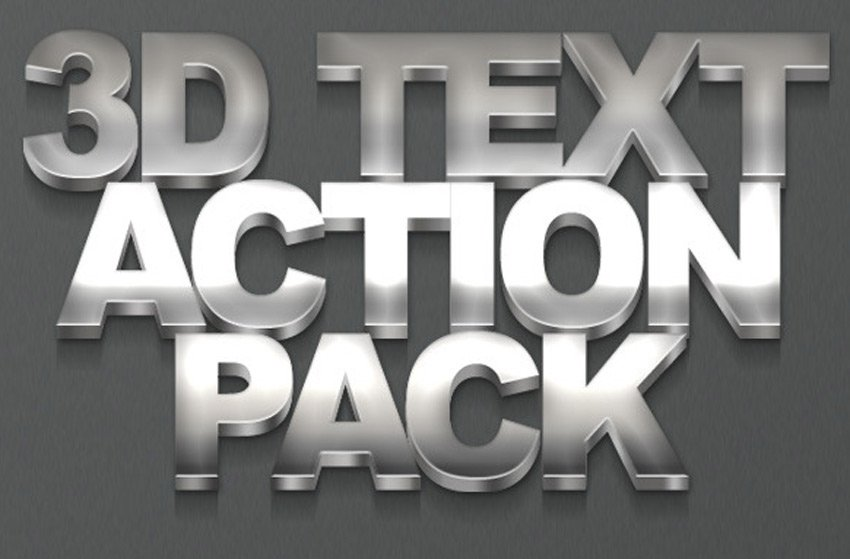 3D Text Action Pack