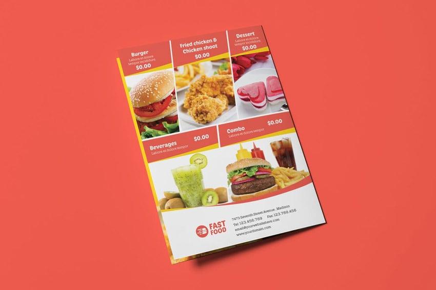 Restaurant Fast Food - Menu Template