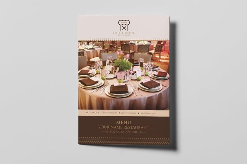 Fine Dining Restaurant - Menu Template