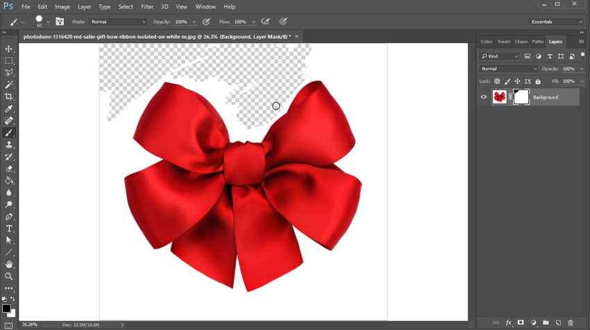 Remove the background with a layer mask