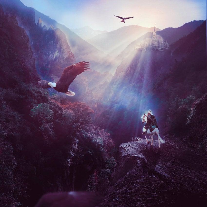 Fantasy Landscape Matte Painting in Adobe Photoshop