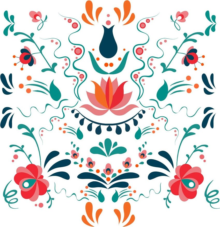 Design a Colorful Hungarian Folk Art Pattern in Adobe Illustrator