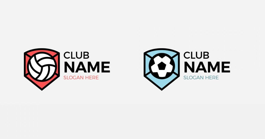 Sports Club Badges and Emblems Logo Kit