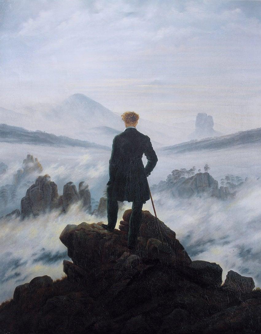 Wanderer above the sea of fog by Caspar David Friedrich