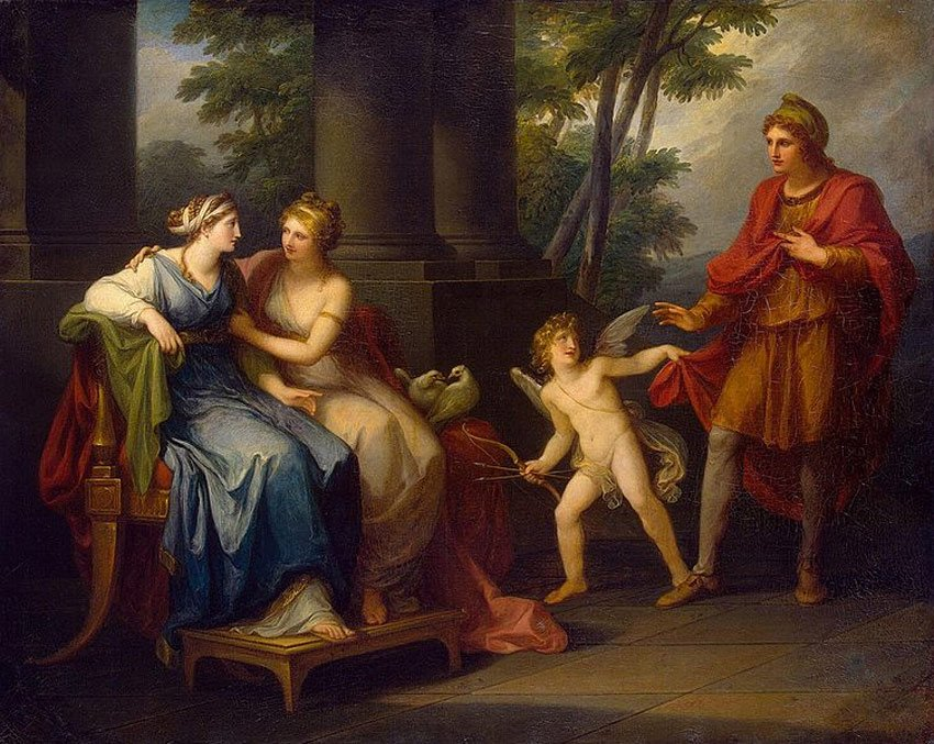 Venus Induces Helen to Fall in Love with Paris by Angelica Kauffman