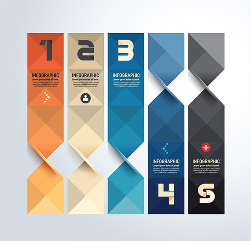 Modern Geometric Graph Design Infographic Template